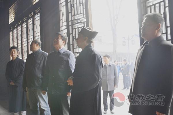陕西省政协副主席张社年到西安八仙宫调研