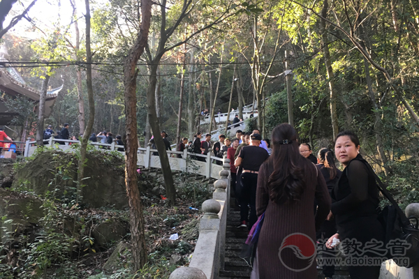 浙江永嘉县领导到天然道观调研宗教文化工作