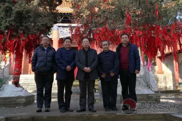 张凤林道长到河南省南阳市三贤山道观调研