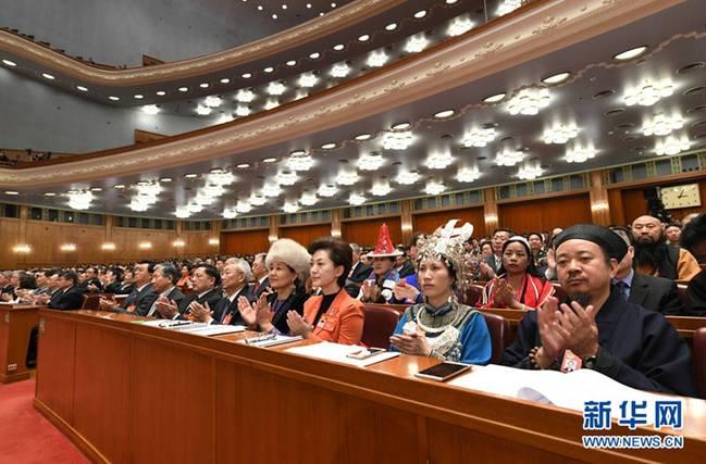 中国道教协会副会长黄信阳道长在全国政协十二届五次会议开幕会上(图片转自新华网)