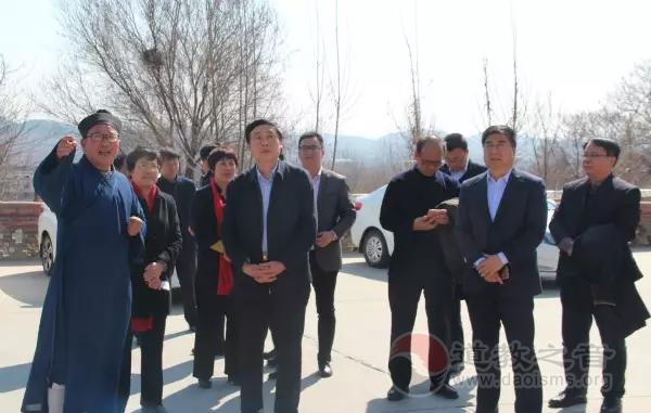 山东省调研组到肥城桃源观调研检查指导工作