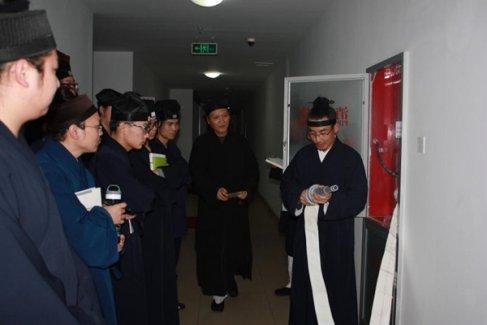 中国道教学院举行消防知识学员交流活动