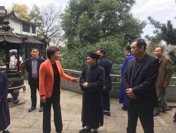 浙江省杭州市领导调研市佛道教等宗教团体