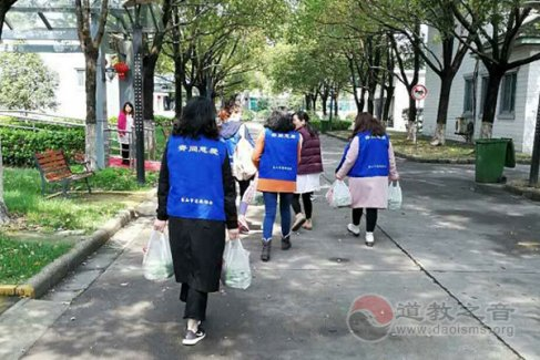 江苏昆山石牌东岳庙开展送青团慈善活动