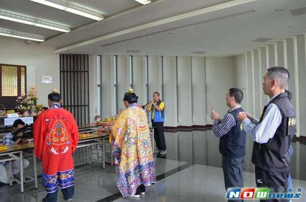 台湾台东市殡葬所举行道教清明祭祖大典