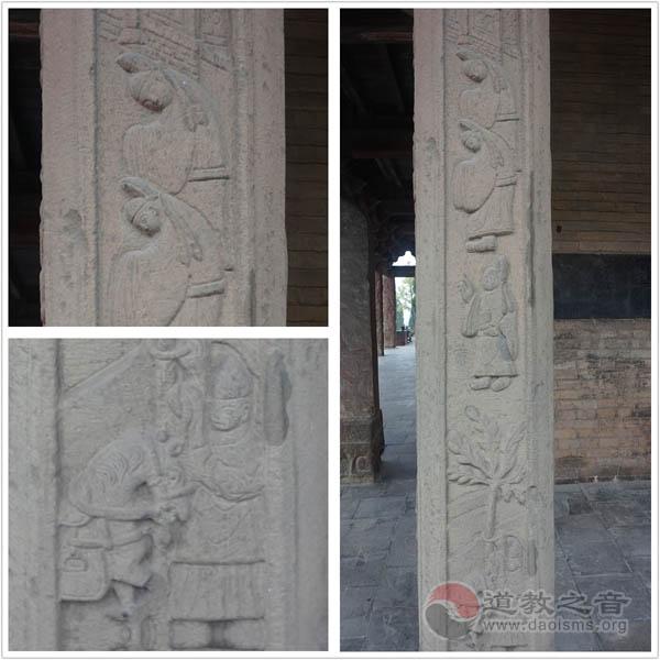 阳台宫玉皇阁廊柱浮雕