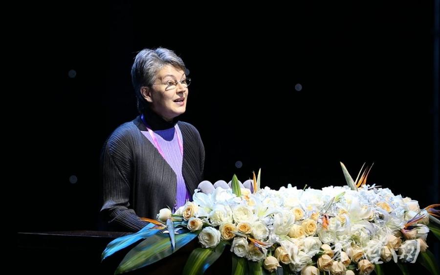 奥地利外交部文化总司司长特雷莎·殷杰恩演讲(图片来自秦楚网)