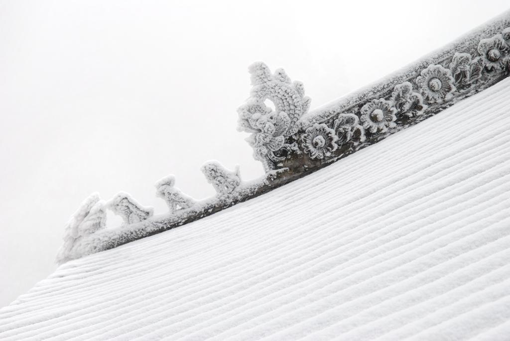 104优秀作品:雪中飞檐(摄影:潘慧冰)