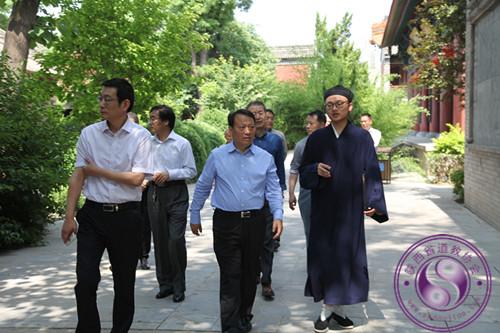 陕西咸阳市政协副主席一行调研中五台道观