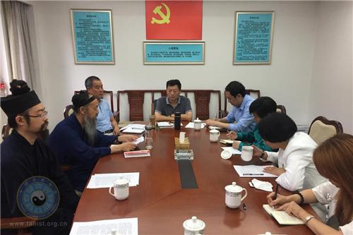 国宗局宗教研究中心副主任一行调研中国道协