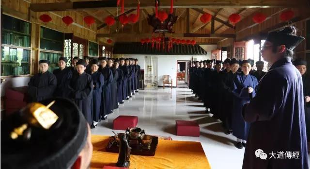 湖北武汉大道观高功音乐学习班学生拜先生仪式举行