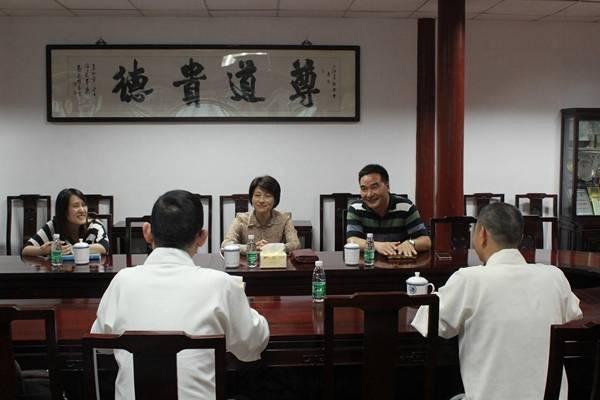 上海市民族宗教委主任花蓓到市道教协会调研