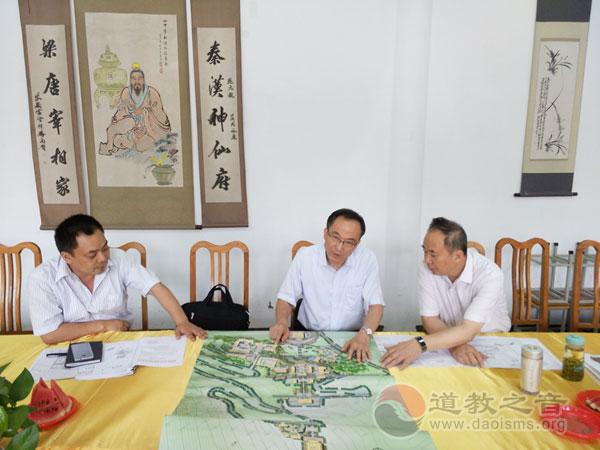 江苏省宗教局巡视员顾传勇调研常州茅山乾元观