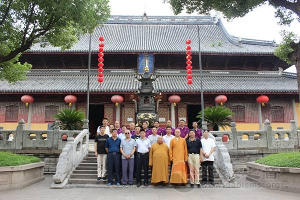 陕西宝鸡宗教局调研员一行到苏州玄妙观参访