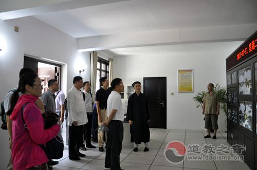 上海市政协一行赴陕西省西安八仙宫考察