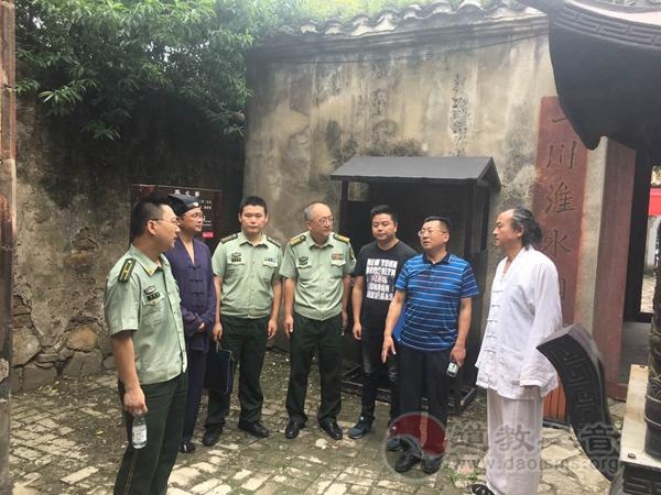 安徽蚌埠消防支队与博物馆人员调研禹王宫