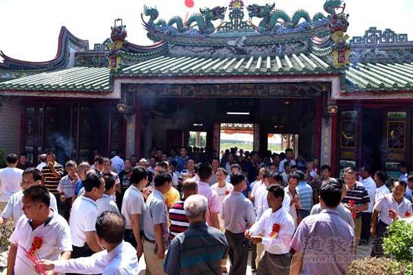 广东陆丰市妈祖文化研究会在上陈天后宫举办活动
