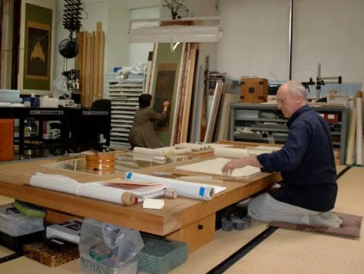 美国波士顿美术馆将公开修复《道教雷部辛天君画像》