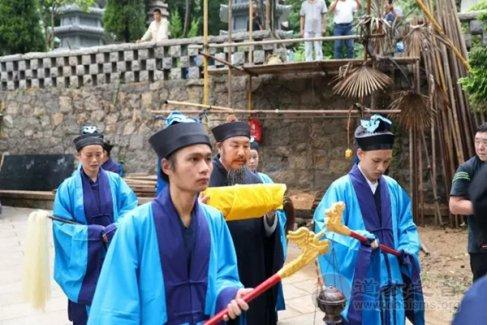 山东省青岛市崂山太清宫隆重举行迎请法统仪式