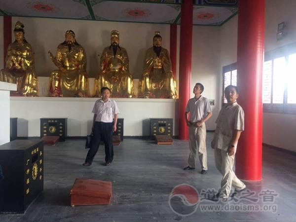 南京市宗教局领导一行到方山洞玄观参访慰问