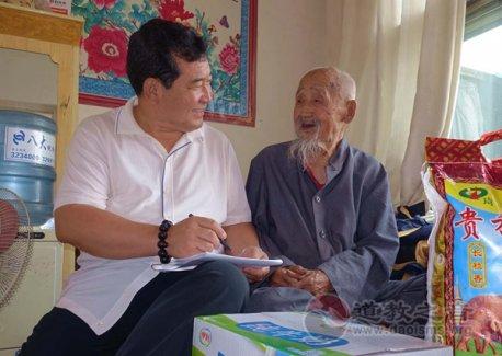 陕西榆林市榆阳区道教协会慰问105岁老居士