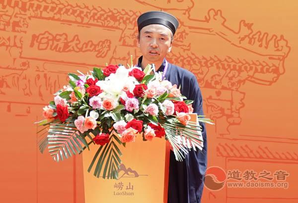 中国道协副秘书长、重庆市道教协会会长邓信德道长代表各省道协致贺词
