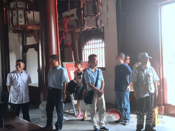 中道协副会长兼秘书长张凤林一行视察苏州工业园区道教工作