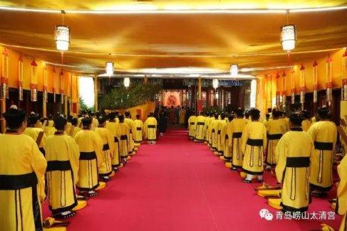 崂山太清宫戒坛举行托钵普谢、审戒、中元祝寿等科仪