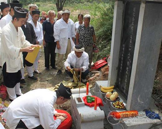 陕西西安八仙宫举行吴宗乾道长羽化三周年立碑仪式