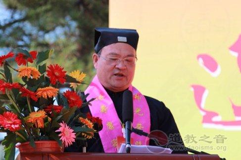 杨世华道长在东北吉林辽源市福寿宫方丈升座典礼上的致辞