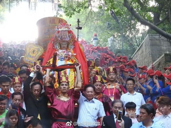 福建省莆田市湄洲岛妈祖圣像到台湾多地巡安_民俗,_之