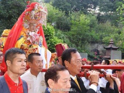 福建省莆田市湄洲岛妈祖圣像到台湾多地巡安