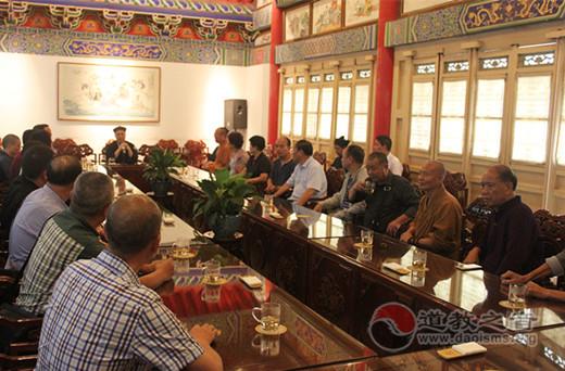 浙江省瑞安市佛道界人士参访陕西西安八仙宫