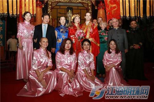 老外小伙牵手中国新娘 南通首次举办道家婚礼