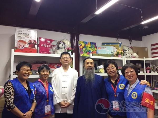 中国道协会长李光富道长一行到上海城隍庙调研