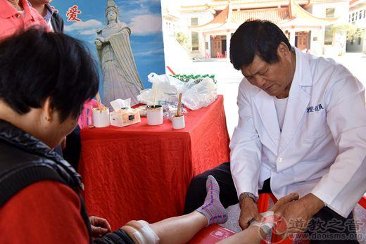 台湾老中医涂金枝在陆丰福山妈祖旅游景区义诊