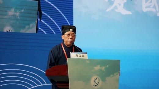 张凤林道长在第二届玄门文明艺术周落幕式上的致辞