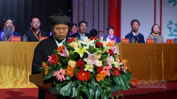黄至安道长于湖南首届方丈升座仪典上讲话