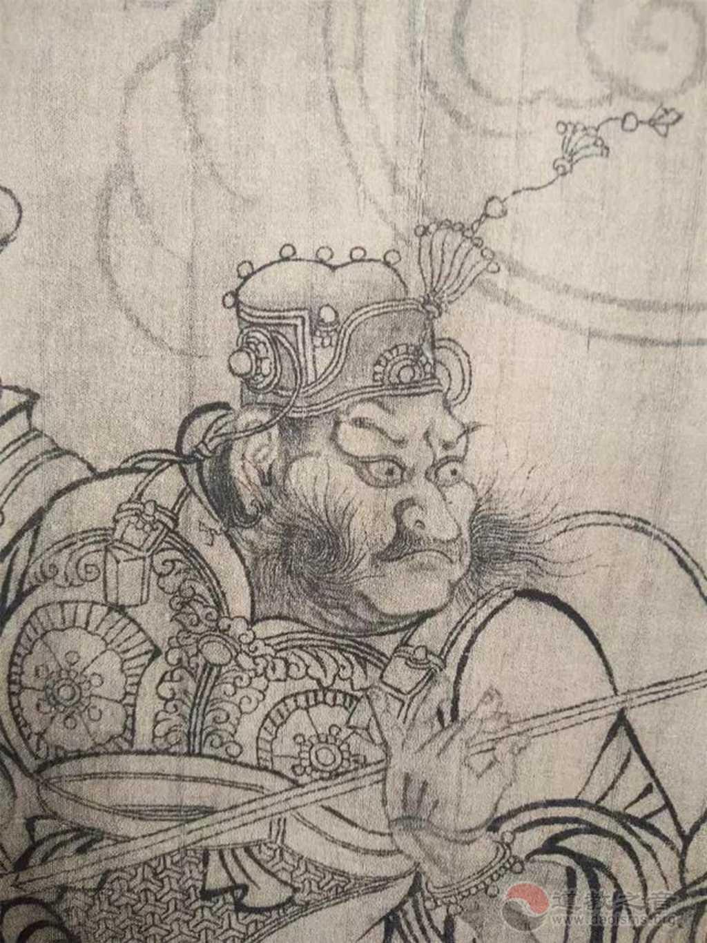 中国画的线描北宋八十位神仙图