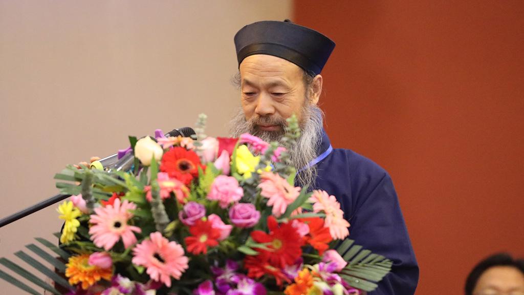 中国道教协会会长李光富道长在开幕式上致辞