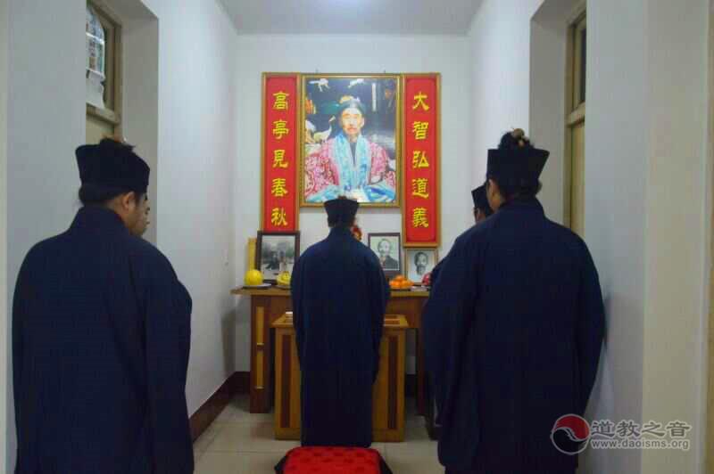 陕西西安八仙宫纪念宗师闵智亭羽化登真十三载