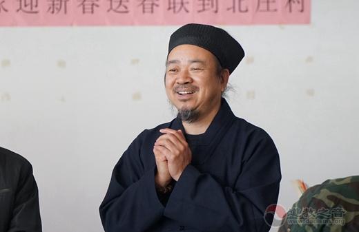 北京市政协民宗委、北京市道教协会书画家迎新春送春联到北庄村