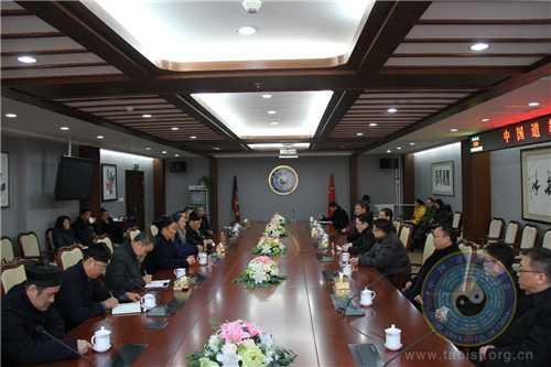 国家宗教局局长王作安一行走访慰问中国道教协会