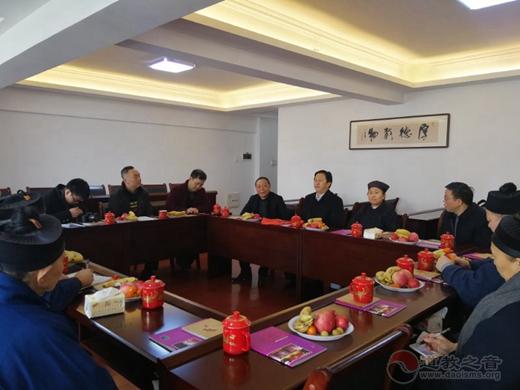 湖南省委统战部、省民宗委领导分别走访慰问省道教协会
