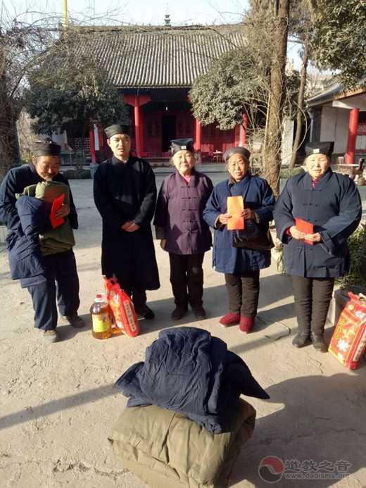 陕西省汉中市道教协会拜望老道长