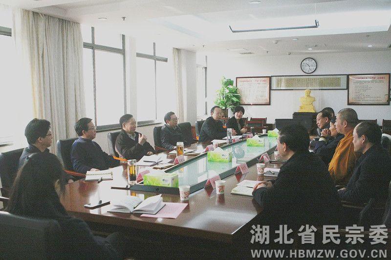 湖北省民族宗教委春节前慰问宗教界代表人士