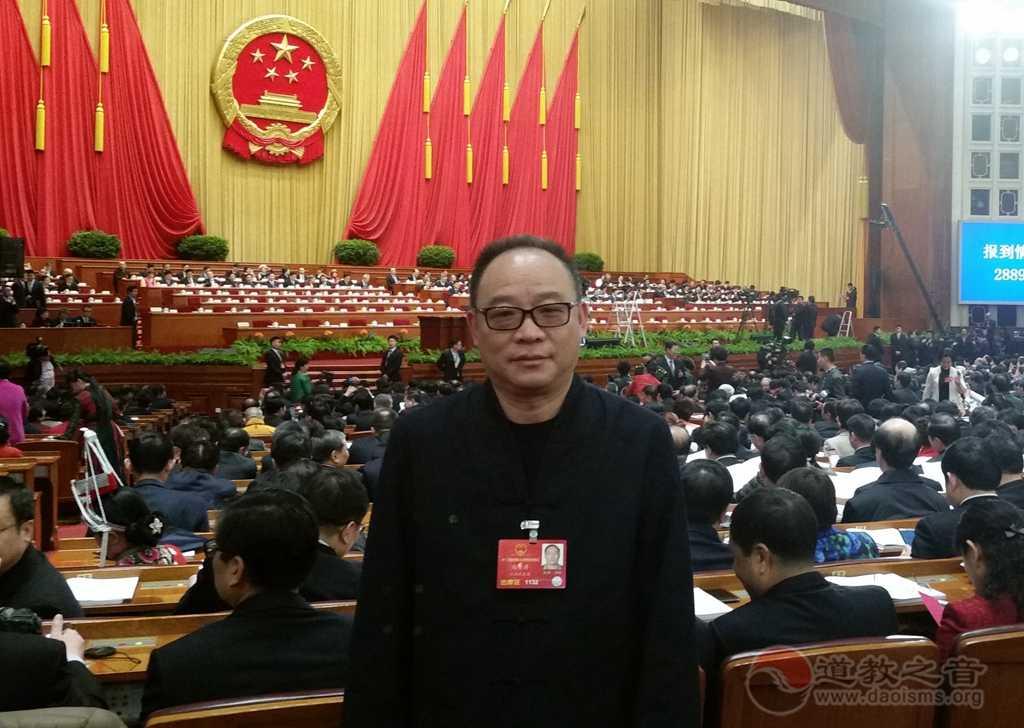 全国人大代表、中国道教协会副会长、龙虎山天师府住持张金涛道长