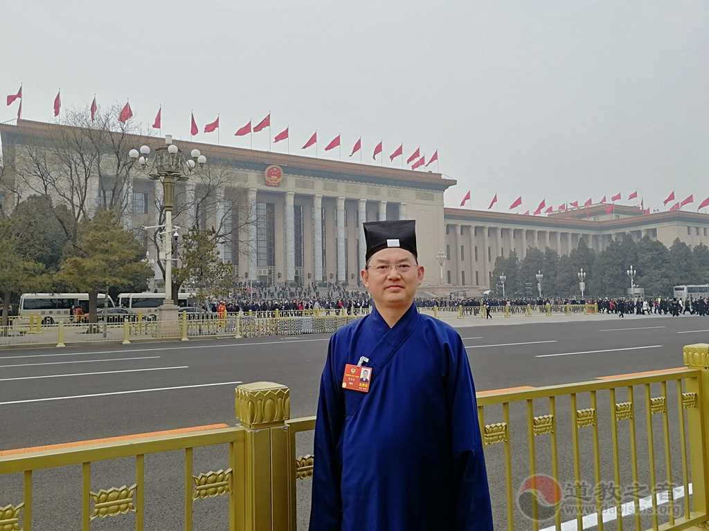 全国政协委员、中国道教协会副会长、上海市道教协会会长吉宏忠道长