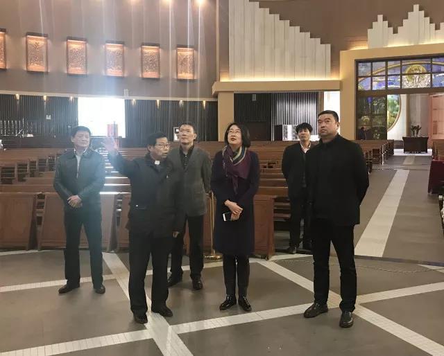 江苏省昆山市统战部部长金铭一行调研市道协、市天主教爱国会