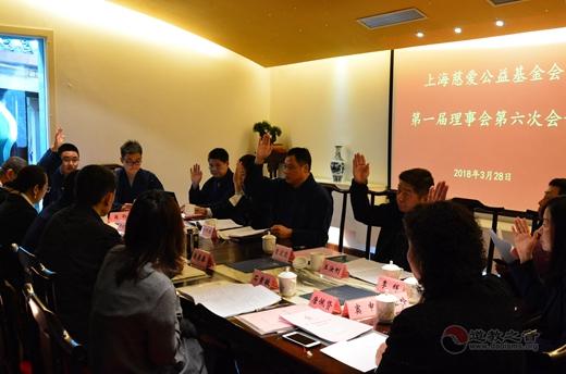 上海慈爱公益基金会第一届六次理事会召开1
